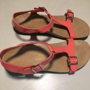Vionic Adriane Coral Adjustable Ortho Sandals 9